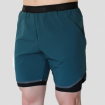 2 In 1 Tech Short Deep Teal